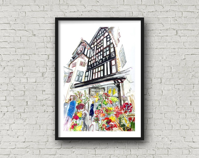 Featured listing image: Liberty - Liberty of London - Liberty Shop - Liberty London Shop - Shop front - PRINT