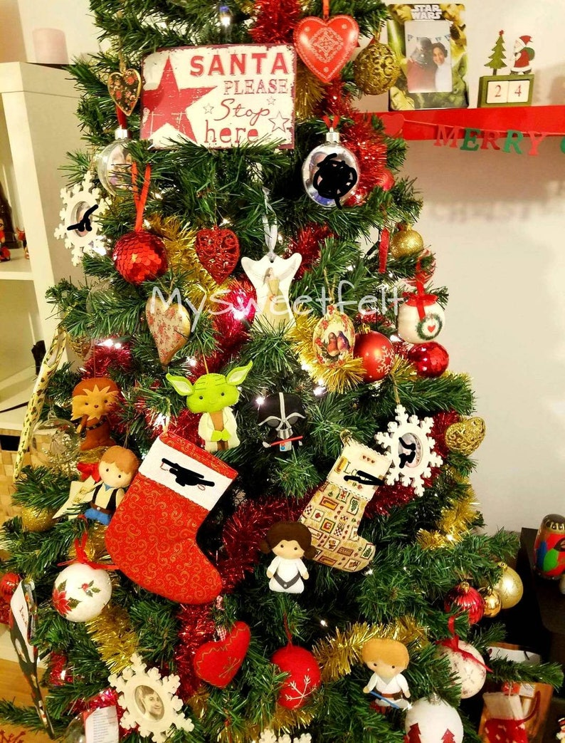 Set Of 6 Star Wars Christmas Ornaments Christmas Decoration Etsy