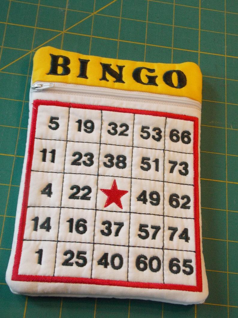Bingo Card Zippered Pouch