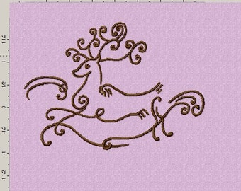Fancy Reindeer Embroidery Design