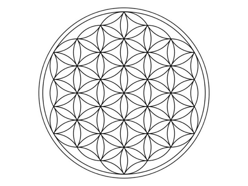 picture about Printable Crystal Grid called PRINTABLE CRYSTAL GRID template offer --- sacred geometry --- electronic down load