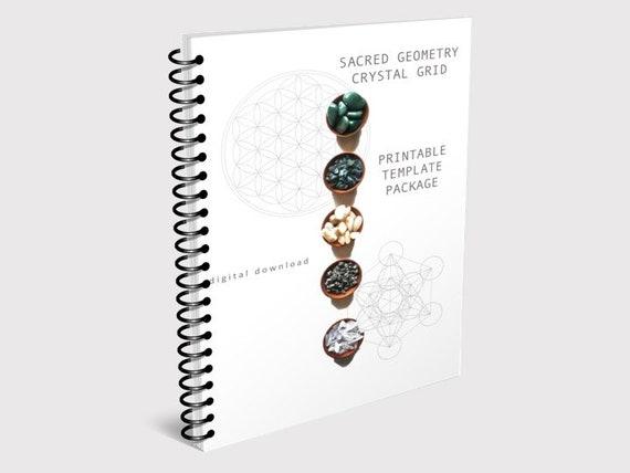 PRINTABLE CRYSTAL GRID Template Package Sacred Geometry Digital Download