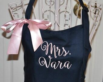 Mrs. Apron, Personalized Apron, Monogrammed Apron, Teacher Apron, Art Teacher, Kindergarten Teacher, Gift for Teacher