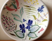 SALE Stig Lindberg Decorative Floral Pottery Bowl