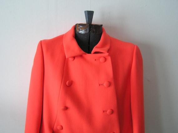 Vintage Coral Colored Jackie O// Mad Men Style Nat