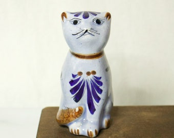 Small Mexican Pottery Cat Figurine