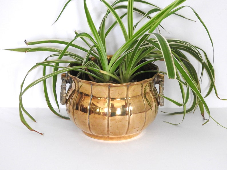 Hollywood Regency Style Solid Brass Planter Rosenthal-Netter