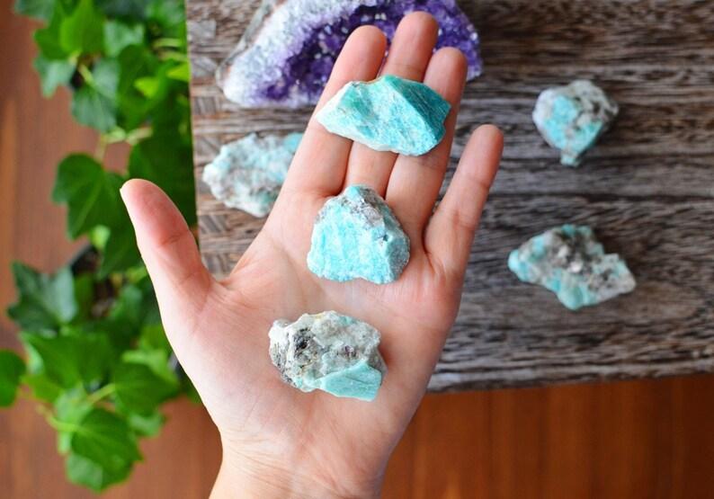Raw Amazonite Stone  Healing Crystals image 0