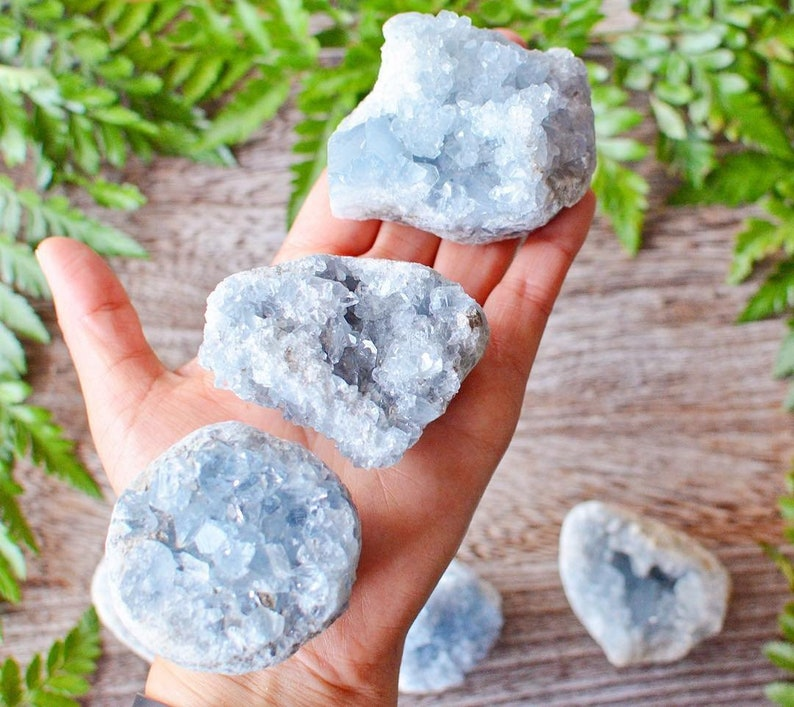 Celestite Crystal Blue Geode image 0