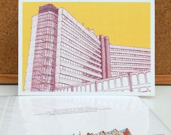 Merrion House - Leeds Greetings Card