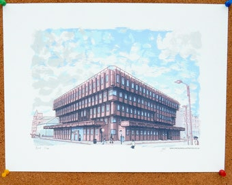SALE! Bank House Art Print - Leeds Poster
