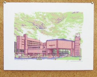The Yorkshire Post Building Art Print - Leeds Poster
