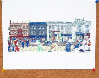 the Headrow Art Print Leeds Poster
