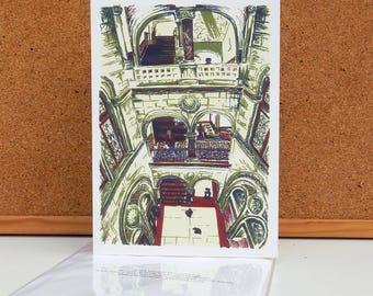 Library Stairway - Leeds Greeting Card