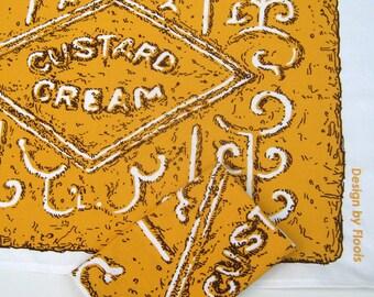 SALE! Custard Cream Biscuit Tea Towel (was 8.50)