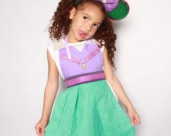 Ariel Dress-Apron, little mermaid apron, Ariel costume, Princess Ariel dress, Little mermaid costume, Ariel costume