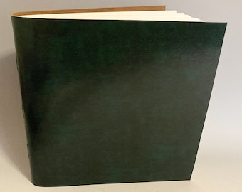 New! Large fine art album scrapbook perpetual sketchbook photo album Archival fine art paper hardbound leather cover many colors available