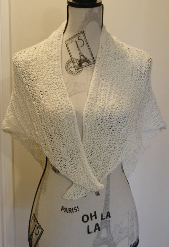 Super Easy Knitting Shawl Pattern Chart Knit Shawl Reading Etsy