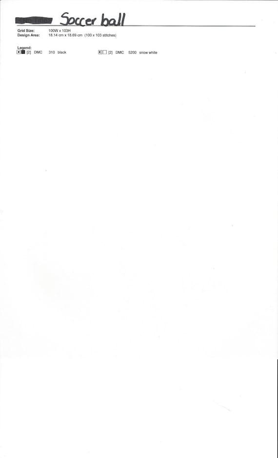 Balón de fútbol cruz puntada patrón de la bola marrón Cruz | Etsy