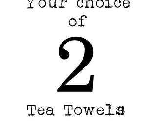 Two FRENCH SILVER DESIGNED Tea towels