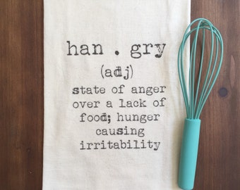 Hangry Flour Sack Tea Towel