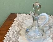 Antique Intaglio CRUET Pattern Opalescent Opal Northwood oil vinegar