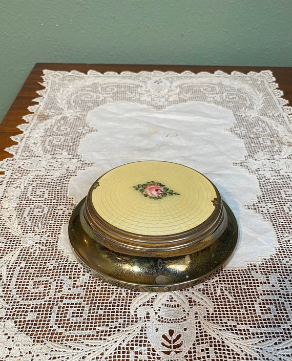 Antique Guilloche Enamel pin tray dresser Chatelai