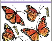 Violette Planner Stickers - Monarch Butterflies for Crafting-2 sheets