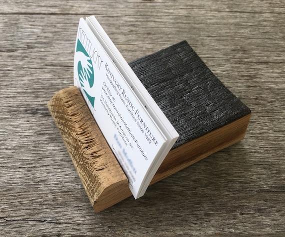 Bourbon Barrel Stave Desk Business Card Holder Office