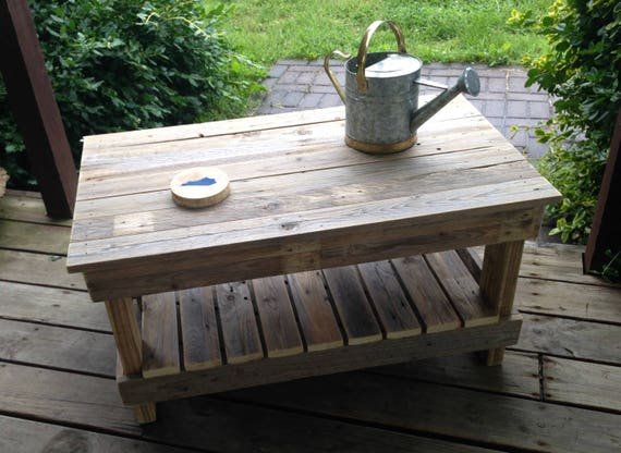 Fabulous Rustic Plank Top Coffee Table Short Links Chair Design For Home Short Linksinfo