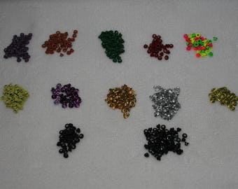 """Colorful Eyelits - 500 pieces 1/8"""""""