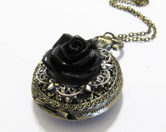 Pricked by Yuri---Elegant Gothic Lolita  Pocket watch necklace.Christmas gift