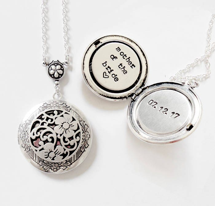 Mother Of The Bride Jewelry: Mother Of The Bride Gift Custom Message Locket Necklace