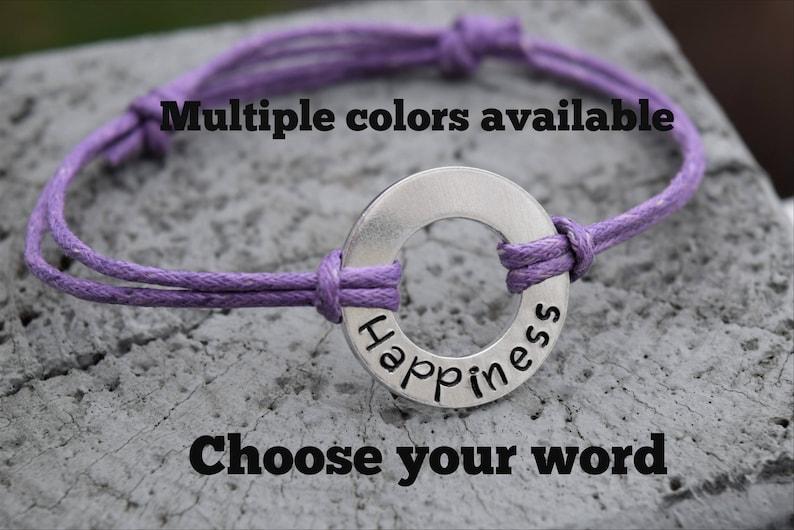 Washer word bracelet.  Washer bracelet.  Choose any word image 0
