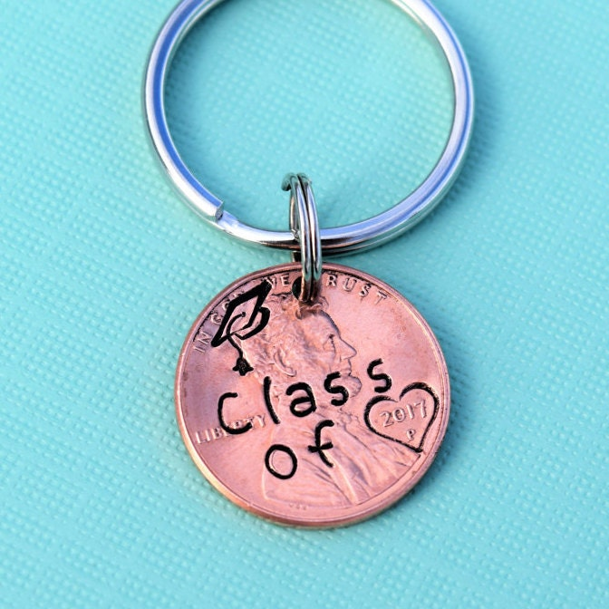 Class of 2019 graduation penny keychain | graduation gift
