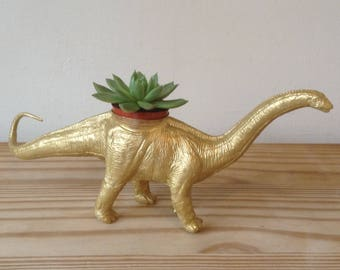 Large Dinosaur planter and more diplodocus apatosaurus brontosaurus 15.5 inches long by 6 inches high