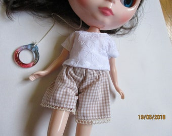 Summer shorts for Blythe and Azone Pure Neemo dolls