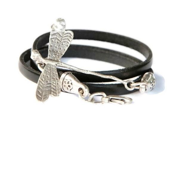 women leather wrap,dragonfly wrap,dragonfly bracelet,women bracelet,women wrap, bracelet,dragonfly leather wrap,christmas gift,women gift