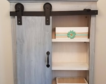 Barn Door Cabinet, Rustic Cabinet, Country Barn Door Cabinet, Country Cabinet