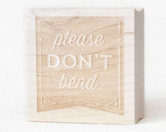 Please do not bend stamp, don't bend stamp, packaging stamp for business, stamp for fragile docs, stamp for packaging, shipping, envelopes
