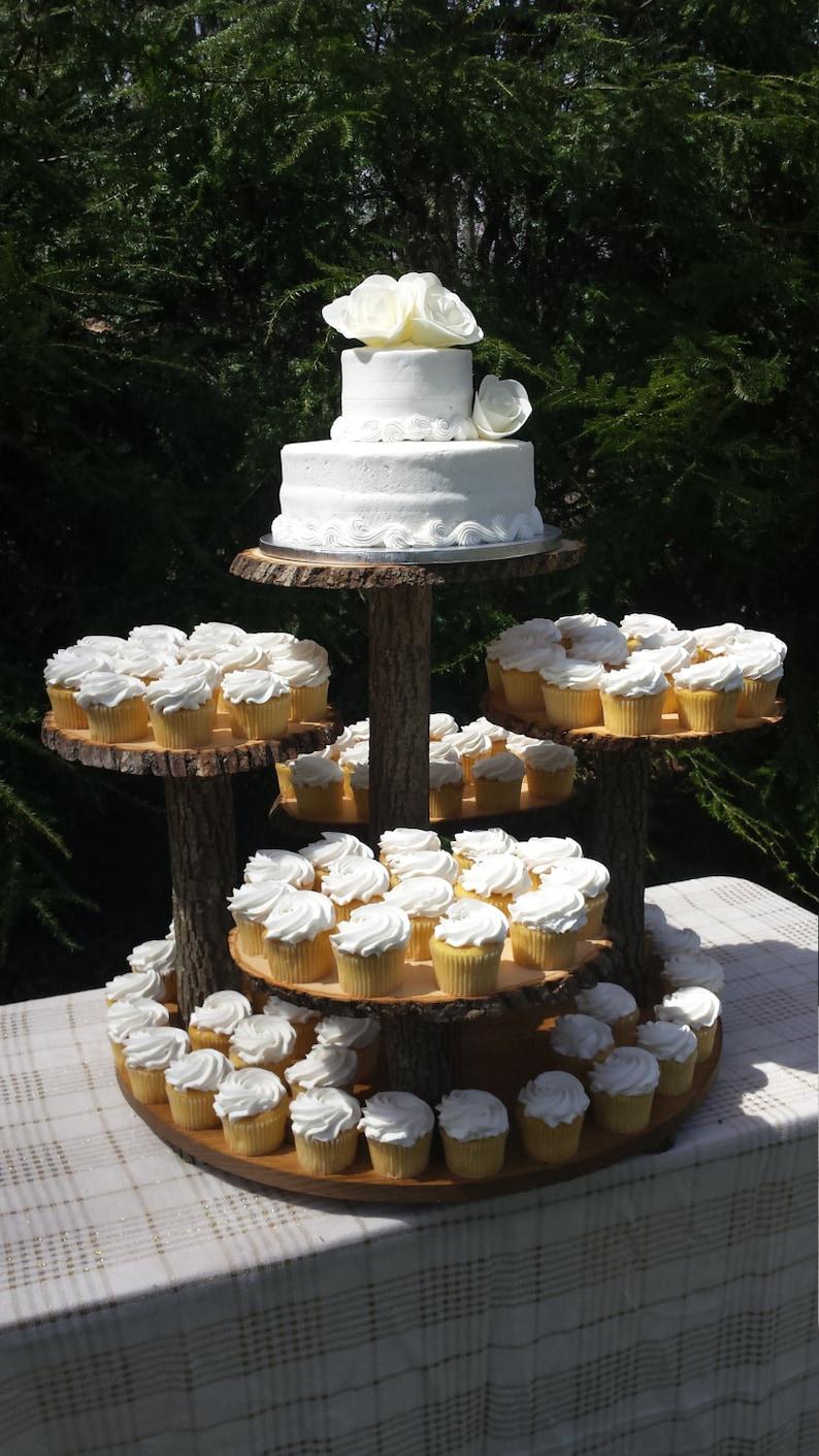 Rustic Cupcake Stand Log Cupcake Stand Tree Cupcake Stand Rustic Cake Stand Rustic Wedding Rustic Cake Stand Wood Cupcake Stand