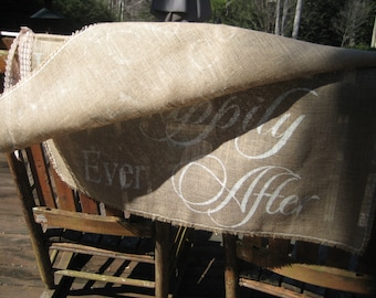 Personalized Banner, Here Comes The Bride, Burlap Banner, XL Wedding Banner, 2 Layer Banner
