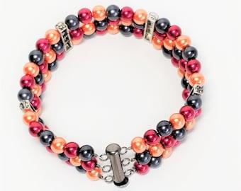 Halloween Pearl Bracelet and Earrings