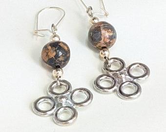 Leopard Stone Earrings