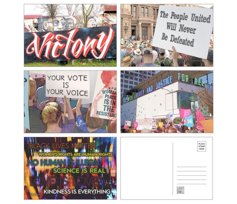 Resistance Postcards-to-Voters 20-Pack  5 Designs image 0