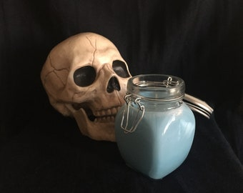 Candle Ceramic Jar Upcycled Fragranced Scented Gift DnD TTRPG Ambience Atmosphere Pirate Ocean Stormy Sea Seafarer