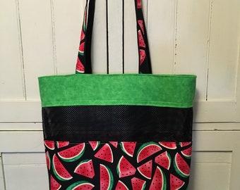 Beach Bag, Market Bag, Watermelon Bag, Shopping Bag, Produce Bag, Watermelon, Grocery Bag, Shopping Tote, Bag, Mesh Bag