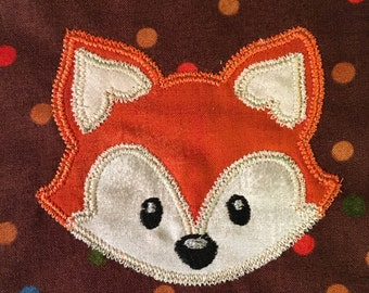 Finished quilt square, Fox quilt square, handmade, finished quilt block, appliqued quilt square, applique, quilt block, fox, applique