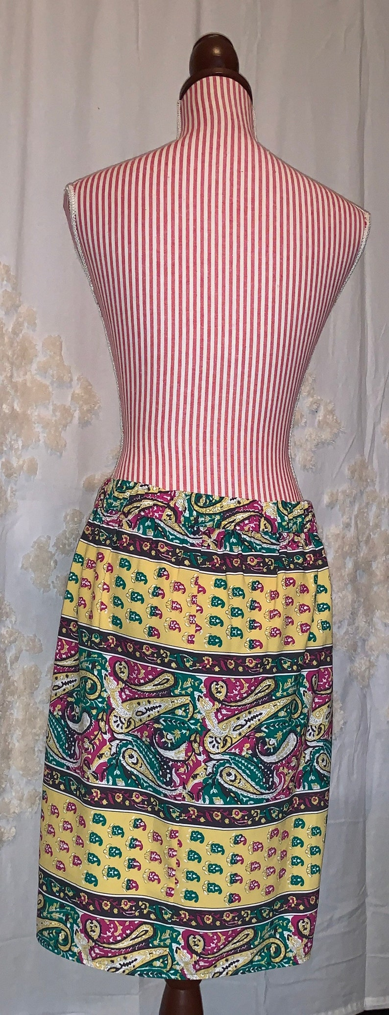 BCBG Max Azria Michaela Paisley Wrap Polyester Skirt Multicolor Medium