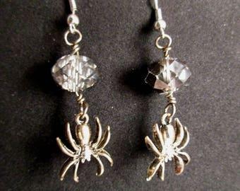 Smoky Spiders earrings